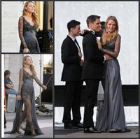 Wholesale 2015 Gossip Girl fashion Blake Lively Sexy Zuhair Murad Celebrity Inspired dress See Through lace Gown