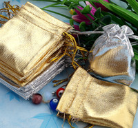 Wholesale Gold amp Silver x7cm Drawstring Organza Bag Jewelry Bag Organza Pouch Bag Christmas Wedding Gift Bag