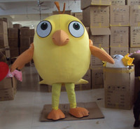 Wholesale Yellow Chick Mascot Cartoon Chiken Costumes Holloween Mascots Adult Fancy Dress Animal Party Suit