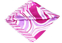 Wholesale Designers Cheap Hot Sale Womens Exquisite Scarves Short Pink Silk Fabric Scarf Stripes Style A17