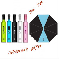 Wholesale New and High Quality Red Wine Bottle Umbrella Folding Umbrella Sunshade Gift For Outdoor Camping
