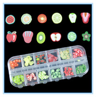 Wholesale Hot FASHION FIMO ASSORTED FRUIT PACKS SLICES D NAIL ART ACRYLIC GEL NAIL ACCESSORIES