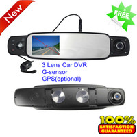 Wholesale Newest Arrival B Car Rearview Mirror DVR HD P car dvr with Cameras degree View Angle support GPS G sensor inch LCD