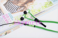 Wholesale YI Zip zipper headphones for ipad iphone htc samsung nokia earphone music zipnico mm Plug