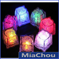 Wholesale 100pcs Hot Sale Led ICE Cube Water activated Flash Light for Party Wedding Event Bars Christmas Various Color