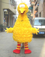 Unisex big bird halloween costumes - Best price Cute Popular Sesame Street Yellow Big Birds Cartoon Mascot Costume Adult Size