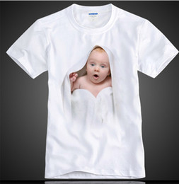 Wholesale men Evian baby body pattern LIVE YOUNG fashion spoof short sleeved Cotton D creative T shirt horror