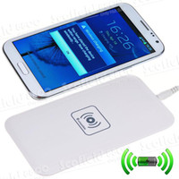 Wholesale QI Wireless Phone Charger for S4 Note2 N7100 S3 S9300 S9500 Iphone S Charging Battery USB Pad chargers No Cable Need without plugging