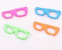 Chirstmas neon paint - X15mm New Item Mix colors Neon Painted Sideways Sun Glasses Connector for Bracelets DIY Jewelry Making