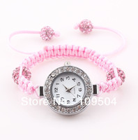 baby crystal bracelets - 2013 NEW Children Shamballa Watch Baby Crystal Disco Ball Bracelet Wrist Watches For Kids ZW2