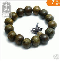 Wholesale Tibetan Sandalwood Carved Buddha Prayer Beads Bracelet shipping free