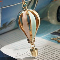 Wholesale 12pcs Fashion Alloy Fire Balloon Necklace Ceramic Glaze enamel lacquer Fashion Necklace