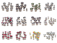 Wholesale Stainless Steel Ear Plugs Ear Flesh Tunnels Piercing Body Jewelry Ear Stretchers Expander Earrings B155
