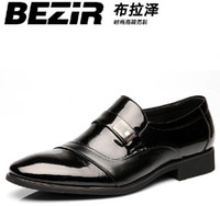 Wholesale BEZIR High grade men s leather shoes dress shoes for men and women dating