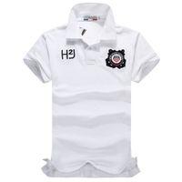 2013 New Arrival Mens white emboridery lapels tee shirts Goo...