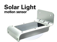Wholesale Motion Sensor Detector Solar Powered Outdoor Lamp LED Wall Light Waterproof MODE bright dim dark