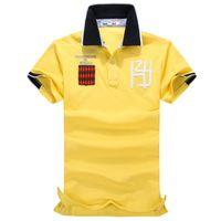 Free shipping Mens yellow comfortable emboridery tee shirts ...