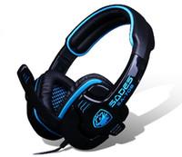 Casque d'écoute professionnel SADES SA-708 WCG Casque d'écoute HD Recommandé Casque avec microphone pour LOL DOTA CS CF Esports