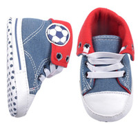 Boy Summer Cotton New Arrival Fashion Baby Cowboy Football Wear Shoes Toddler Casual Sport Soft Sole Shoes Toddler First Walkr Shoes 6pairs lot