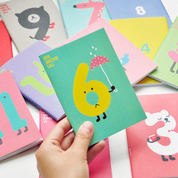Wholesale High quality Korea stationery Cute cartoon lucky digital notebook diary book daily planner millenum notepad small book