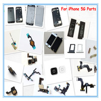 For Apple iPhone LCD Screen Panels White and Black Cellphone Repair Replacement Parts LCD Touch Screen Assembly, Full Repair Parts for iphone 5G 5C 5S, Back Battery Glass Cover, Free Shipping