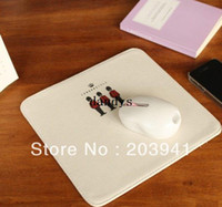 gift item wholesale - NEW Vintage Love London style fabric mouse pad computer mouse mat Fashion new gift innovative items