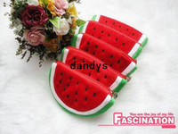 Wholesale Freeshipping Watermelon Plush Mobile phone bags Portable Wallet Cosmetic Bag Coin Purse Pencil Case Fashion Gift