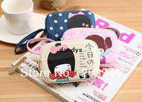Wholesale New sweet japanese girl series fabric coin bag