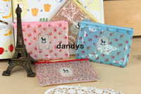 Wholesale New sweet spring flowers pvc pouch pencil pouch coin purse fashion