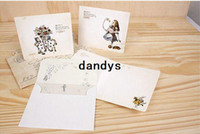 Boys' bathing stories - New vintage style Alice story postcard with envelop and stamp sticker greeting card