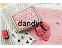 Wholesale Freeshipping New Creative Multifunction iron box stamp set DIY stamp Decorative DIY funny work Ballerina