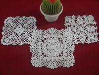Wholesale cotton hand made crochet doily table cloth designs colors custom square cm crochet applique tmh307