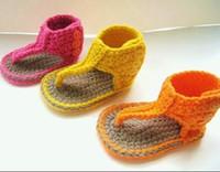 Wholesale Shop Cheap Kids Shoes - 100% handmade crochet Sandals baby shoes china shoes cheap shoes shoes shop discount shoes shoes online baby wear kid shoes 1pairs 2pcs