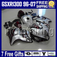 Wholesale 7gifts amp Tank For SUZUKI Hayabusa GSXR1300 dark red silver HR1623 GSX R1300 GSX R1300 Fairings