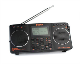 Wholesale DEGEN DE1128H FM MW SW GB in Portable Intelligent Multifunctional LED STEREO Radio DSP Receiver Mini Handle Bands A0912A