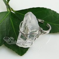 Wholesale quartz rock crystal agate finger rings fashion jewelry
