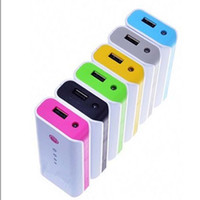 Wholesale 20 Rectangle mAh Power Bank Emergency Charger w LED Torch Indicating Light USB Output for Mobile Phone MP4 iPhone iPad HOT