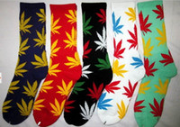 Men Stockings Athletic Huf socks high quality mix color wholesale purity cotton marijuana maple leaf towel bottom thicken fashion HUF plantlife socks 24pcs=12pairs