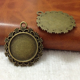 30MM Inner:20MM Vintage Alloy Metal Antique Bronze Blank Tray Jewelry Base Cameo Cabochon Bezel Pend