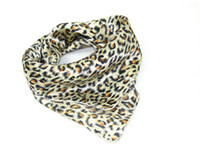 Wholesale 2013 New Fashion Womens Short Square Scarves Leopard Korea Style Silk Scarves A13