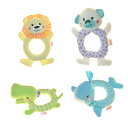 Wholesale Baby rattle toys Infant baby plus animal toys Early Development stuffed doll toy Cloth toys B950