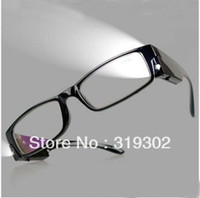 Wholesale Cheapest Quality Led light glasses LED Reading glasses readers with battery prescription eyeglasses RETAIL gifts for elders