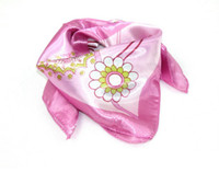 Wholesale 2013 Summer New Fashion Womens Short Square Cashew Picture Style Scarves Silk Scarves Pink Color A16