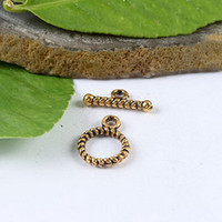Wholesale 50sets dark gold tone spiral shape toggle clasps H1270