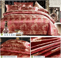 Wholesale Luxury jacquard satin cotton silk QUEEN KING SIZE BEDDING bedding set duvet cover bed sheet comforter set