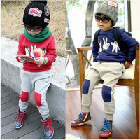 Boy 3-8 Spring / Autumn Free shipping -2013 new clothes + pants boys and girls , children sportswear suit