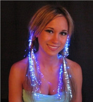 Wholesale 100pcs Hot Sale Led Barrette Led Fiber Optic Light up Hair Barrette Led Hair Extension Flash Party Decoration