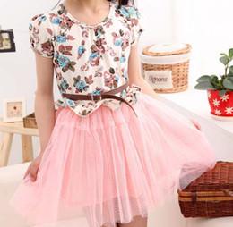 Girl Clothes Cute Flower Dresses Fashion Lace Princess Dress Tiered Dresses Kids Summer Dress