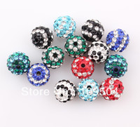 Wholesale Mix Color mm Shamballa Striped Beads Stripe Crystal Disco Ball ZBE31