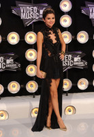 Wholesale Selena Gomez Mtv Video Music Awards Black Lace Dress Celebrity Dresses